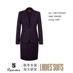 OEM 2 Piece Notch Lapel Women′s Business Suit pictures & photos