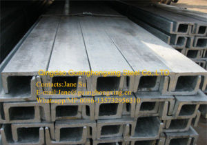ASTM A36, Ss400, Q235 Galvanized Structural Section Steel Channel pictures & photos