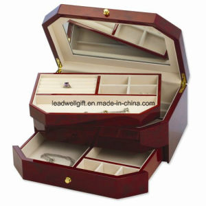 Walnut Finish High Gloss Finish Jewelry Box/Case Jewelry display pictures & photos