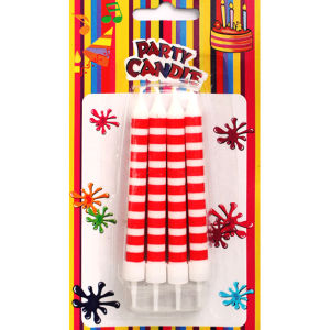 Red and White Birthday Party Candles Cake Candles (SYC0116)