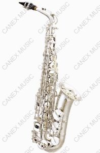 Alto Saxophone SAA-S / Entry-Level Saxophone Silver/ Musical Instruments pictures & photos