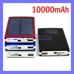 10000mAh Power Bank Portable Solar Mobile Charger Rechargeable Solar Battery for Samsung Tab Apple (SL-1014) pictures & photos
