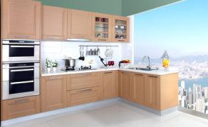 PVC Laminate Kitchen Cabinet Door (zc-079) pictures & photos
