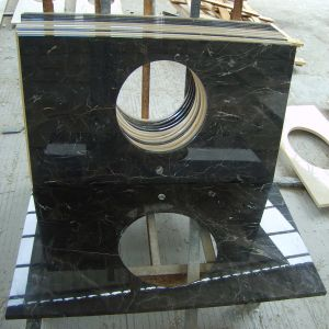 Cheap Price Modern Laurent Brown Marble Bathroom Vanity Top pictures & photos