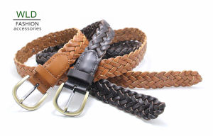 Fashion Basic Braided Genuine Top Leather Lady Belt Lky1179 pictures & photos