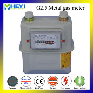 G2.5 Metal Case Household Flow Gas Meter pictures & photos