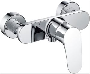 New Design Brass Chrome Plated Bathroom Show Mixer (ZS71102) pictures & photos