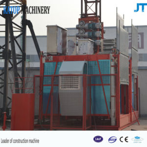 2t Load/Cage Double Cages Construction Hoist in Low Price pictures & photos