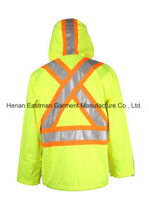 Hi Vis Yellow Coat Breathable Water Proof Jacket Reflective Men Jacket pictures & photos