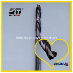 Jinoo 2 Flutes Solid Carbide Twist Drill Bit Left Drill pictures & photos