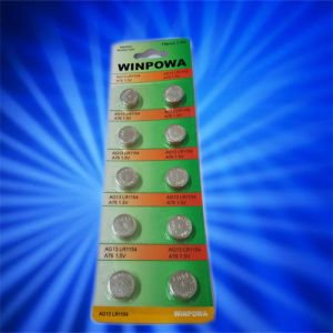 10PCS 0% Hg Lr1154 Alkaline Button Cell Battery pictures & photos