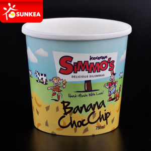 Custom Logo Printed Paper Ice Cream Cup pictures & photos