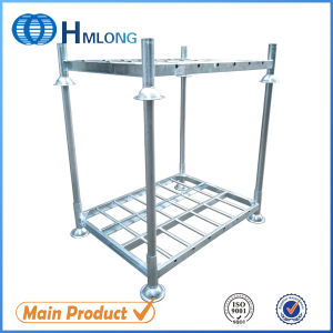 Galvanized Foldable Storage Steel Stacking Pallet Rack pictures & photos
