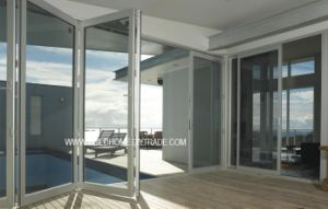 Thermal Controlled Folding Double Glass Aluminium Doors pictures & photos