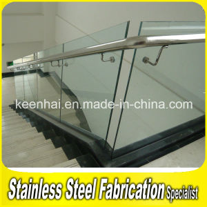 Indoor Decorative Stair Railing Stainless Steel Railing with Glass pictures & photos