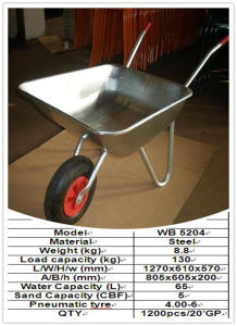 High Quality Direct Manufacturer Wheelbarrow (WB5204) pictures & photos