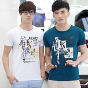 Custom Nice Cotton/Polyester Printed T-Shirt for Men (M053) pictures & photos
