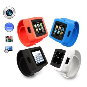 Mq666A Quadband 1.54 Inch Touch Screen 3.2MP Camera Stylish Watch Mobile Phone