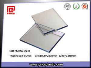 6X1000X2000mm Clear Static-Dissipative Acrylic Plexiglass Panel pictures & photos