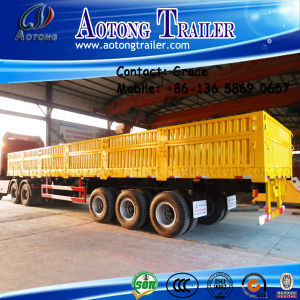 3 Axle 50 Ton 60ton Side Board Semitrailer, Side Boards Flatbed Semi Trailer, Flatbed with Side Wall, Open Side Board Cargo Semi Trailer, Side Wall Semi Trailer pictures & photos