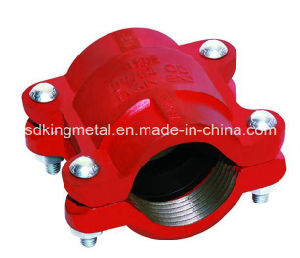 Ductile Iron 300psi NPT Threaded Grooved HDPE Coupling pictures & photos