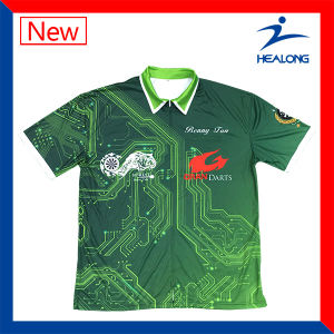 Custom Sublimation Mens Competition Shooting Polo T Shirts pictures & photos