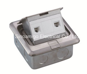 Stainless Steel Floor Socket Date RJ45 CAT6 Outlet Tct Tot Telecommunication Closet pictures & photos
