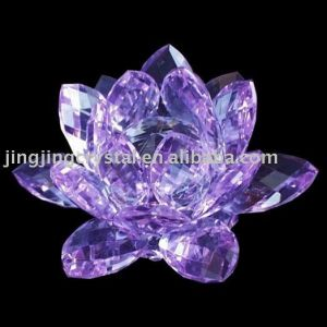 Crystal Lotus Flower for Gifts with Popular Styles in China pictures & photos