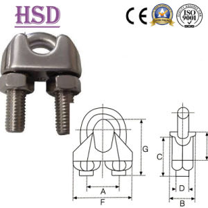 DIN741 Wire Rope Clamp of Fastener pictures & photos