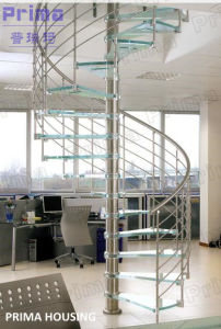 Stainless Steel Glass Spiral Staircase pictures & photos