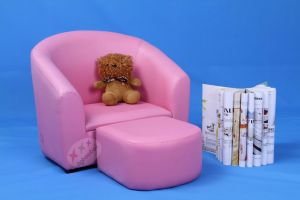 Fashion Home Baby Furniture Children Chair and Ottoman Set (SF-12) pictures & photos