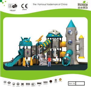 Kaiqi Medium Sized Cool Robot Themed Children′s Playground with Rocket Tower! (KQ20073A) pictures & photos