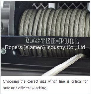 "5/16""X50′ Optima S Winch Line 12s, Winch Rope (ATV&UTV and SUV Trunk Winch) , UHMWPE Rope with Thimble Eye Assembled Hooks pictures & photos"