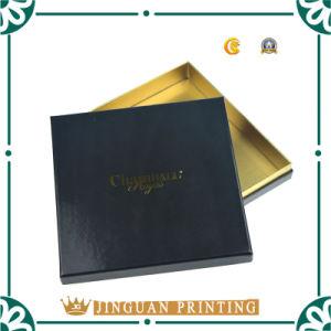 Black Matt Gift Packaging Box with Gold Foil