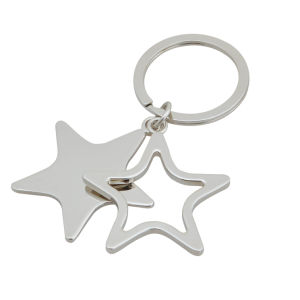 Star Shape Key Chain, Hollow Key Ring (GZHY-KA-030) pictures & photos