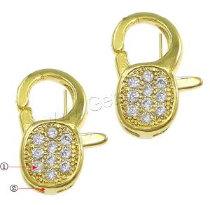 Plated Brass Lobster Clasp, Brass Jewelry Findings (140712102804)