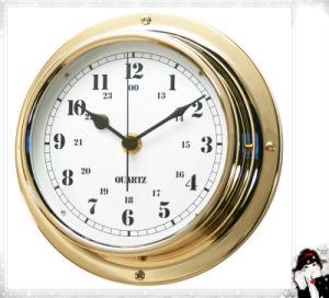 Gl198 Marine Clock Brass Case Dial 180mm pictures & photos