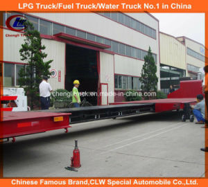 Heavy Duty 2 Axle Extendable Flatbed Semi-Trailer pictures & photos