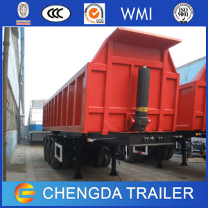 Triple Axles 60tons Hydraulice Tipper Trailer for Sale pictures & photos