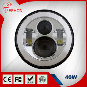 Teehon LED Headlight for Jeep Wrangler 40W 7 Inch LED Driving Lights pictures & photos