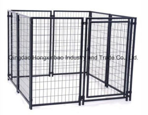 Black Color Powder or PVC Coating Outdoor Dog Kennel/Dog Cage pictures & photos