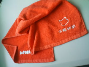Customized 21s 100% Cotton Terry Embroidered Face Towels Cu-352