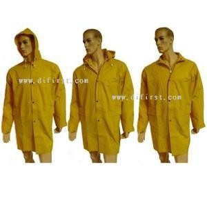 Rain Coat with PVC Coating pictures & photos
