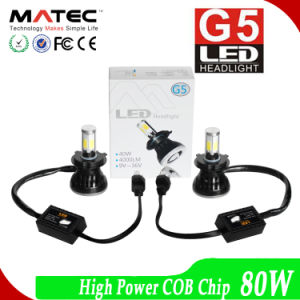 High Power COB Chip LED Headlight 80W 8000lm LED Motorcycle Head Light pictures & photos