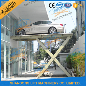 3t 3m Low Rise Hydraulic Scissor Car Lift with Ce pictures & photos