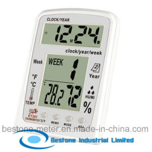 Hygro-Thermometer Clock & Calendar (KT201) pictures & photos