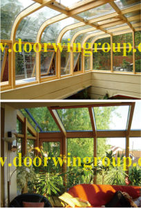 European and American Style Aluminium Wood Glass Window pictures & photos