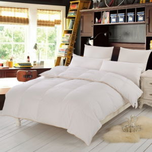 White Quilted Box Duck Feather Comforter