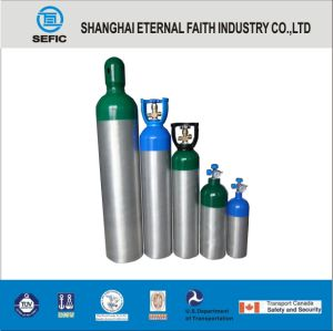 17e Thread Valve Small Portable Medical Oxygen Aluminum Gas Cylinder pictures & photos
