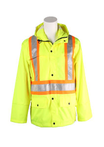 Hi-Vis Safety Reflective Waterproof and Windproof Jacket with Hood pictures & photos